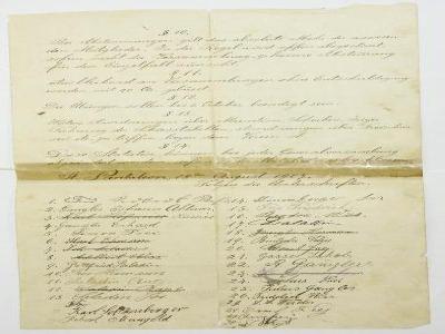 Gründungsurkunde und Statuten